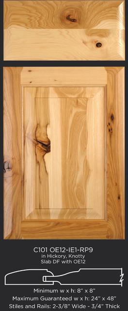 Hickory Aka Pecan Cabinet Doors Rustic Kitchen