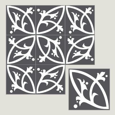 Villa Lagoon Cement Tiles eclectic-tile