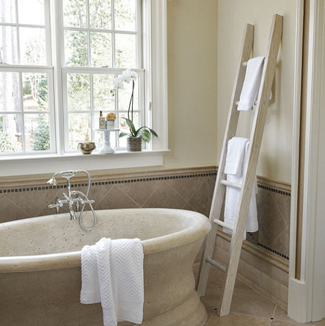 Decorative wood display ladder traditional ladders and - Decorative ladder for bathroom ...