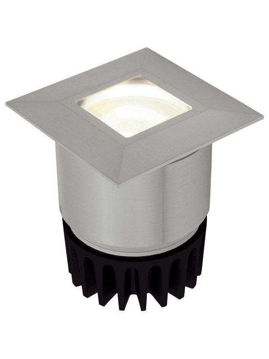 Sun3 Square 16 Degree LED Wall / Floor Recessed by Edge Lighting - Sun3 Square 16 degree LED wall/floor recessed fixture features high powered warm white LEDs. Available with a 16, 23, 36, or 47 degree precise focus beam. With a tempered glass lens and marine-grade aluminum beveled trim this fixture is ideal for indoor or outdoor applications. The fixture is rated for outdoor use with a wet location electrical box, not included. The trim accepts any color of Rosco or Lee color filter gels. Compatible with the TE-60L-12 remote electronic transformer, or the T-150-12 and T-300-12 remote magnetic transformers, sold separately. Dimmable with electronic low voltage dimmer when using the TE-60L-12. Lutron dimmers recommended: Dims to 9% with Diva #DVELV-300P; 21% with Skylark #SELV-300P; 31% with Maestro #MAELV-600. Dimmable with magnetic low voltage dimmer when using the T-150-12. Lutron dimmers recommended.