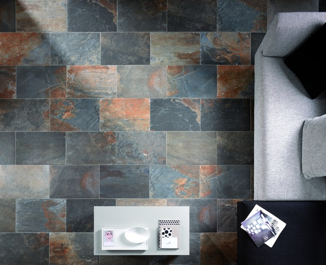 Natural Slate Multicolor Traditional Wall And Floor