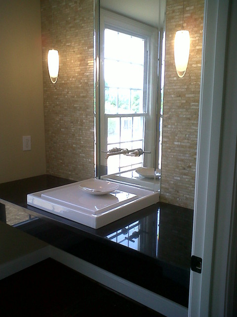 """""""Walmac"""" home - total kitchen renovation - interior and exterior modifications contemporary-powder-room"""