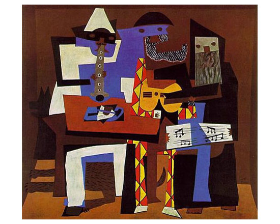 Three Musicians   Picasso   Painting Reproduction - Pablo Picasso - Three Musicians, 1921 - Hand-Painted Oil Painting Reproduction.