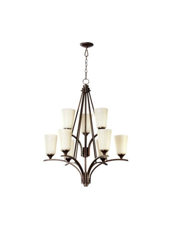 Quorum Light Fixtures - Winslet Oiled Bronze Chandelier