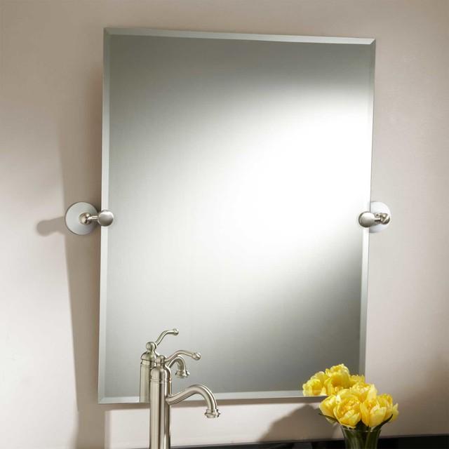 Quot houston rectangular tilting mirror contemporary