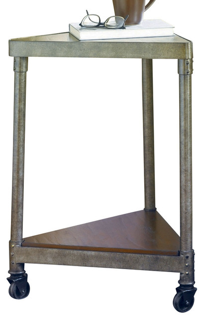 Hammary Structure Wedge End Table with Casters