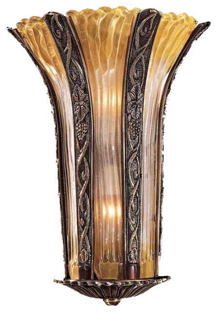 Amber Wall Sconces Glass : Metropolitan Amber Murano Glass 17