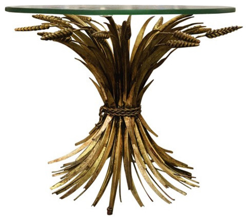 Gilt Wheat Sheaf Table eclectic-coffee-tables