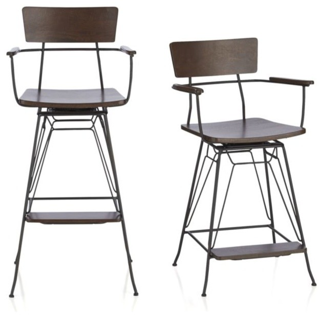 Elston Swivel Bar Stool Industrial Bar Stools And