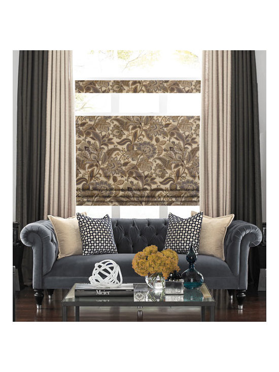Blindsgalore - Blindsgalore Designer Roman Shades: Traditional Patterns - Blindsgalore® Designer Roman Shades: Traditional Patterns features elegant pattern designs with five different styles to choose from.