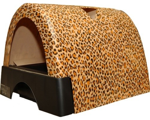 Designer cat litter box with new leopard print cover modern litter boxes and covers - Modern kitty litter box ...