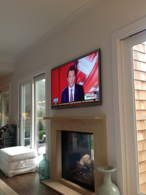 TV installations - Beach Style - Living Room - new york - by Tech ...