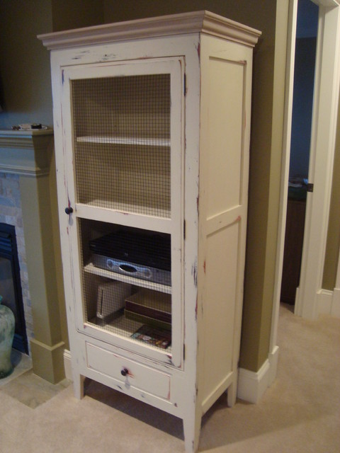 Rustic Tall Cabinet - Traditional - Storage Cabinets - by Old Kranky's Custom Woodworking