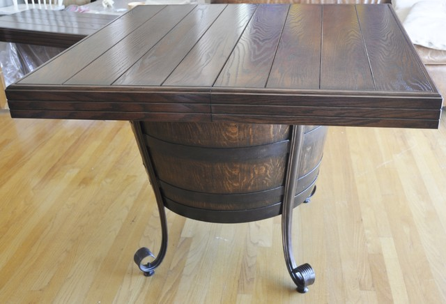 Wine Barrel Dining Room Table Contemporary Furniture Santa