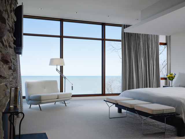 modern bedroom by Grunsfeld Shafer Architects