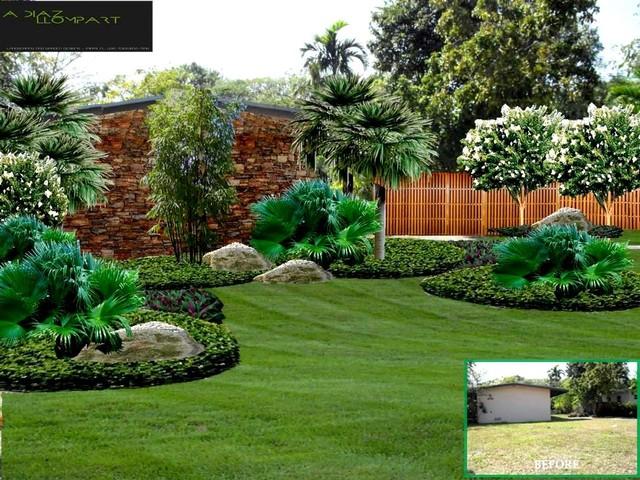 Miami shores landscaping and hardscape proposal for Landscape design miami