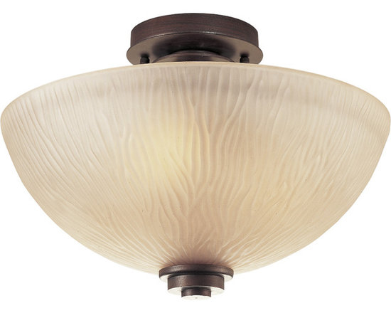 """Progress Lighting P3525 Riverside 14"""" Three-Light Semi-Flush Mount Ceiling Fixtu - The remarkable Riverside ceiling fixture is the perfect accent piece to an already amazing collection. Combining function with style, this piece adds beauty to your ceilings."""