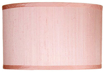 Maura Daniel Lamp Shade Max Silk Pink traditional-lamp-shades