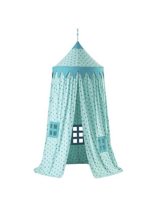 Home Sweet Play Home Canopy, Teal Polka Dot -