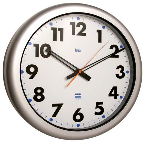 Futura White 16-Inch Aquamaster Weatherproof Wall Clock - Modern - Clocks - by Bellacor
