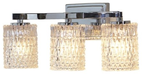 3-Light Polished Chrome Bathroom Vanity Light - contemporary ...