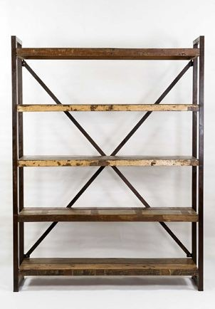 Open Shelf Bookcase Industrial Bookcases Other Metro