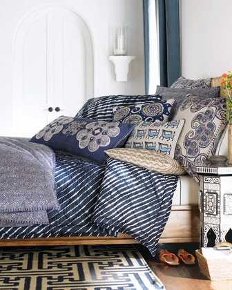 John Robshaw Bundi Indigo Bed Linens King Indigo Turban Quilt traditional-quilts