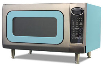 ... Retro Microwave 24 in. wide - Beach Blue - Modern - Microwave Ovens