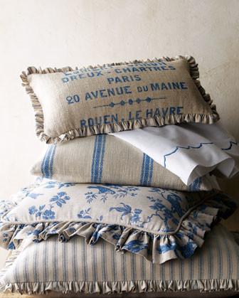 French Laundry Home Striped Standard Sham traditional-shams