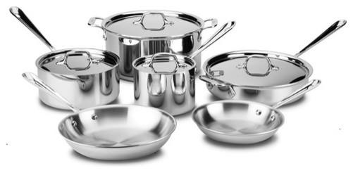 Stainless 10-Piece Cookware Set modern-cookware