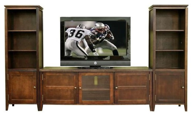 Wholesale Interiors 3 Piece Entertainment Center Set