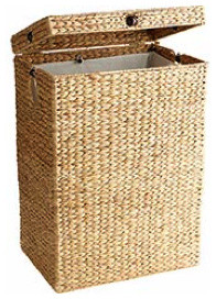 Water Hyacinth Hamper with Liner. tropical hampers