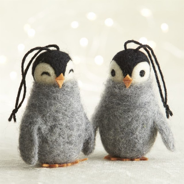 Penguin Christmas Tree: Wooly Penguin Ornaments