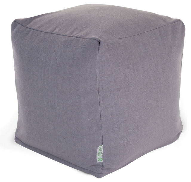 Indoor Gray Wales Small Cube Contemporary Ottomans And
