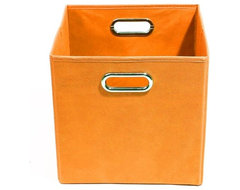 Bold Solid Orange Folding Storage Bin modern-storage-boxes