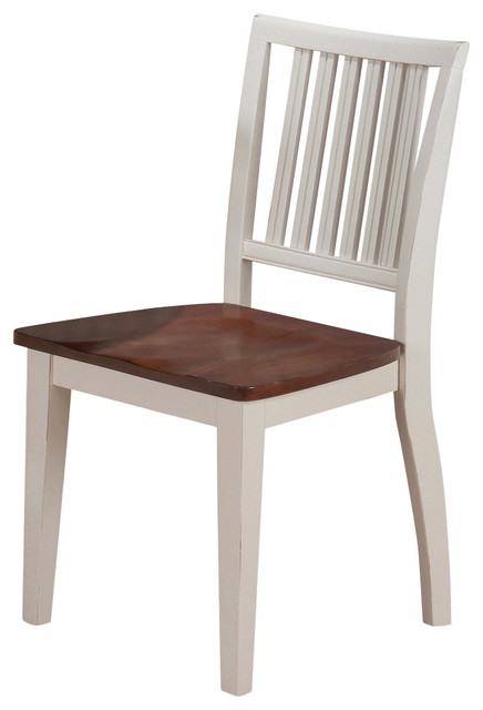 Jofran 141-278KD Madison County Salem Slat Back Side Chair in Two-Tone Finish traditional-dining-chairs