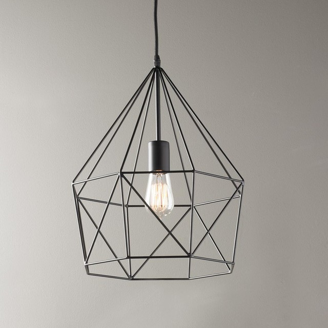 Young House Love Geometric Diamond Lantern - Lamp Shades - by Shades of Light