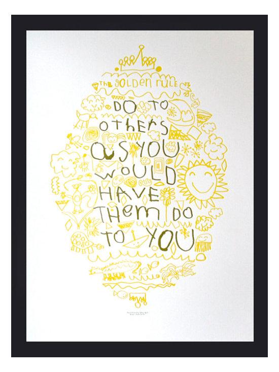 Golden Rule Letterpress Poster -