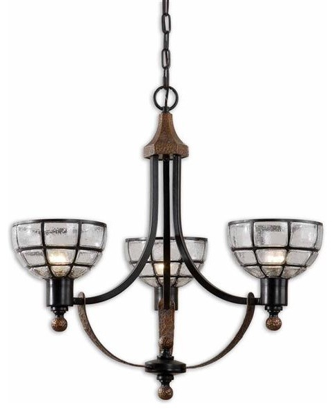 Uttermost Gelati 3 Light Seeded Glass Chandelier modern chandeliers