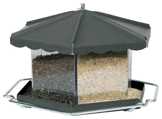 Triple Bin Party Feeder Bronze modern-bird-feeders