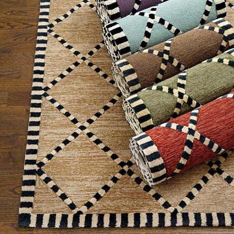 Turin indoor outdoor rug contemporary outdoor rugs for Ballard designs kitchen rugs