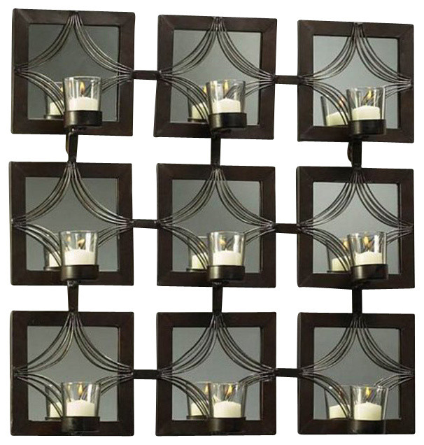 Deco Designed Mirror contemporary-candles-and-candleholders