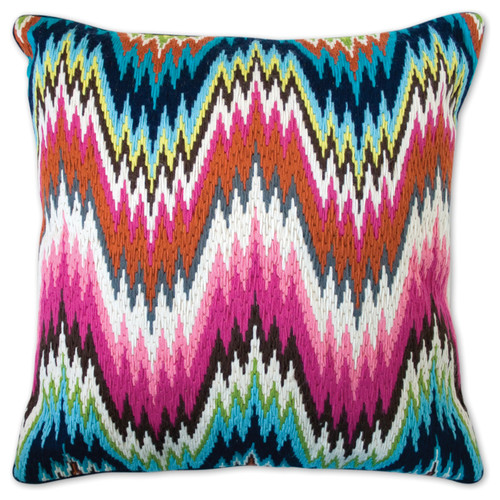 stitched cushion, embroidered pillow, cushion embroidery, bargello, modern stitching, cushion, stitching, embroidery,
