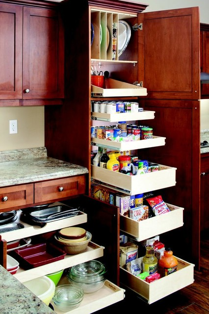 Pantry slide out shelves indianapolis by shelfgenie of for Sliding drawers for kitchen cabinets