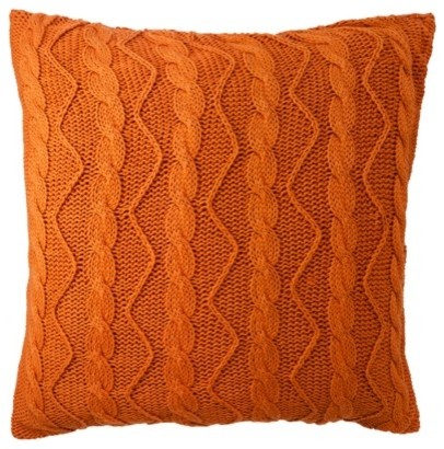 Decorative Pillow, Orange - contemporary - pillows - by Target