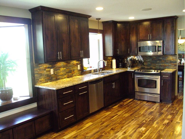 ... Prefinished - Modern - Kitchen - minneapolis - by Unique Wood Floors