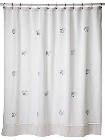 Shower Curtain, Coral, Duck Egg Blue curtains