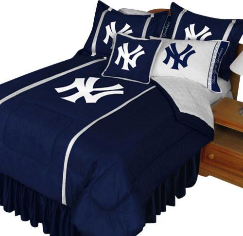 MLB New York Yankees Comforter Set NY Logo Baseball Bedding Queen Contempo