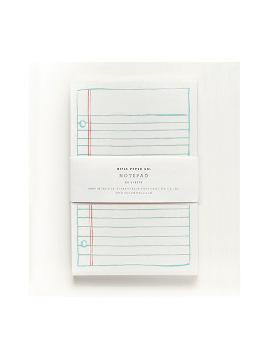 Rifle Lined Notepad -