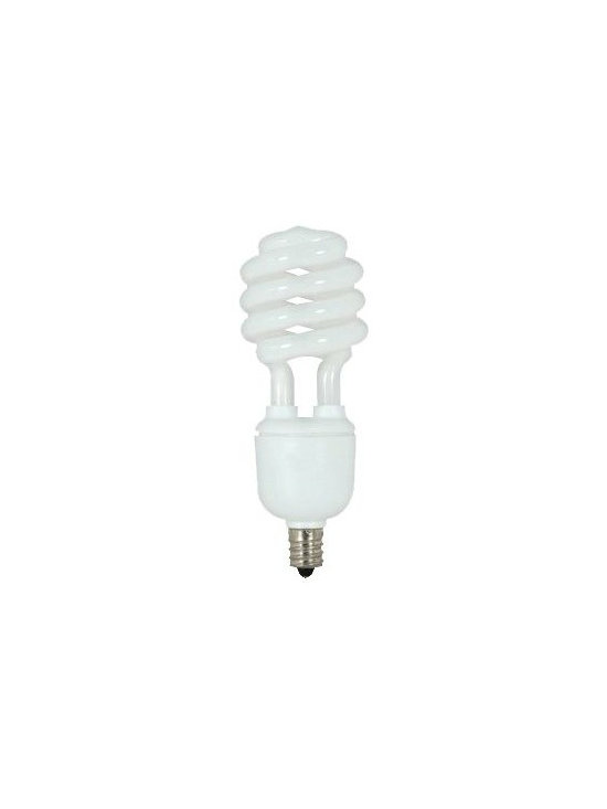 SATCO Lighting - 13W 120V T2 E12 Mini Spiral CFL Bulb by SATCO Lighting - This energy-efficient fluorescent light bulb from SATCO is designed for general purpose use in candelabra size sockets. Satco, headquartered in Brentwood, NY, designs and manufactures a variety of high-quality lighting products for residential and commercial applications.